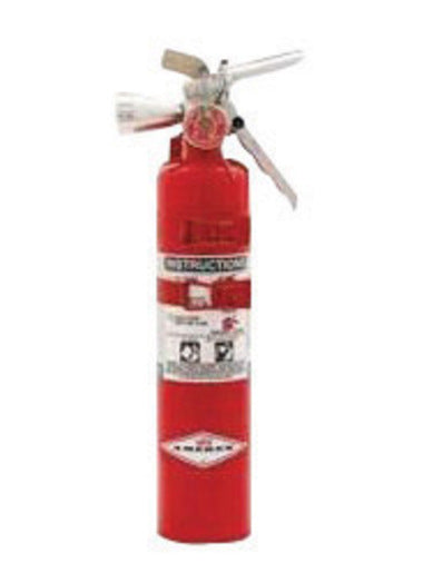 Amerex® 2.5 Pound Halotron® I 2-B:C Fire Extinguisher For Class B And C Fires With Anodized Aluminum Valve, Aircraft Bracket And Nozzle