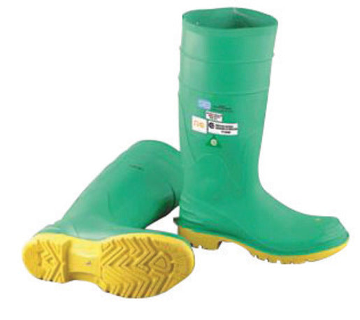 "Onguard Industries Size 8 Hazmax® Green 16"" PVC Knee Boots With Ultragrip® Sipe Outsole, Steel Toe And Removable Insole"