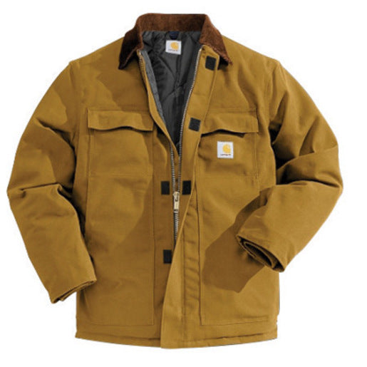 Carhartt® 5X Regular Brown Nylon Quilt Lined 12 Ounce Cotton Duck Arctic Traditional Coat With Front Zipper, Hook And Loop Closure Triple-Stitched Seams (2) Chest Pockets, (2) Front Pockets And (2) Inside Pockets