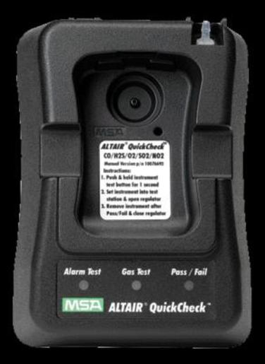MSA Oxygen/Carbon Monoxide/Hydrogen Sulfide/Sulfur Dioxide/Nitrogen Dioxide ALTAIR® North American Version QuickCheck™ Station With Automatic Regulator For Use With ALTAIR® Pro Single Gas Detector
