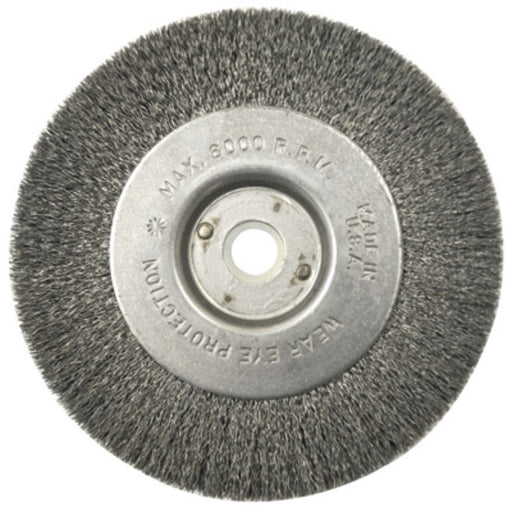 "Radnor® 4"" X 1/2""- 3/8"" Carbon Steel Crimped Wire Wheel Brush For Use On Small Angle Grinders (Bulk Pack - 5 Per Box)"