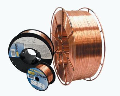 ".035"" ER70S-6 Radnor® ArcPlus 6 Copper Coated Carbon Steel MIG Welding Wire 44# 12'' Fiber Spool"