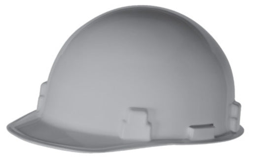 Radnor® Gray SmoothDome® Polyethylene Cap Style Standard Hard Hat With Suspension