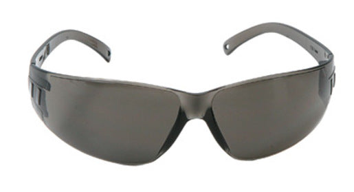 Radnor® Classic Series Safety Glasses With Gray Frame And Gray Polycarbonate Anti-Fog Anti-Scratch Lens