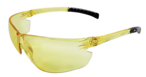 Radnor® Classic Plus Series Safety Glasses With Amber Frame And Amber Polycarbonate Hard Coat Lens