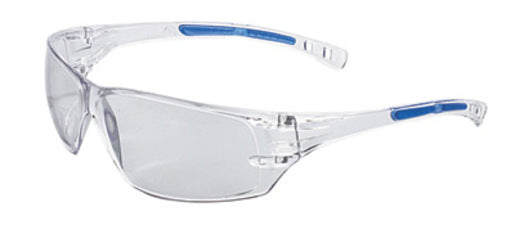Radnor® Cobalt Classic Series Safety Glasses With Clear Frame, Clear Anti-Fog Lens And Flexible Cushioned Temples