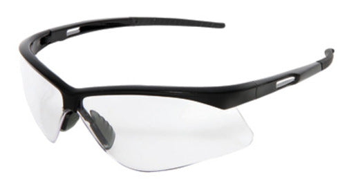 Radnor® Premier Series Safety Glasses With Black Frame And Clear Polycarbonate Anti-Fog Lens