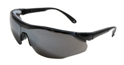 Radnor® Elite Plus Series Safety Glasses With Black Frame And Silver Mirror Lens