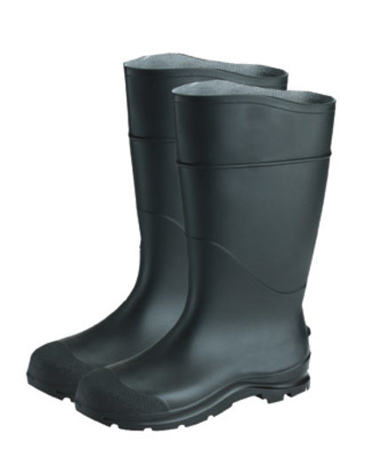 "Radnor® Size 10 Black 14"" PVC Economy Boots With Lugged Outsole Steel Toe"