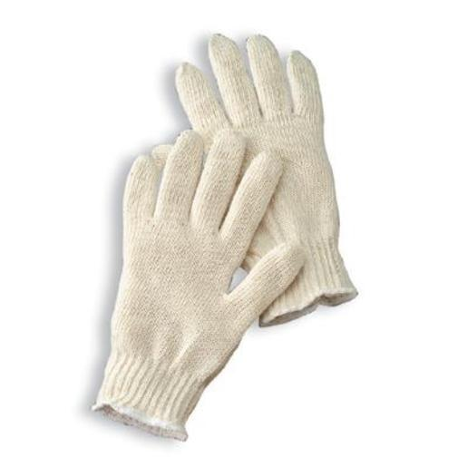 Radnor® Large Natural Medium Weight Cotton Ambidextrous String Gloves With Knit Wrist