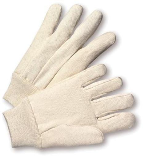 Radnor® Men's White 12 Ounce 100% Cotton Canvas Gloves With Knitwrist