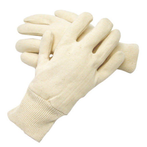 Radnor® Men's White 7 Ounce Reversible 100% Cotton Jersey Gloves With Knitwrist