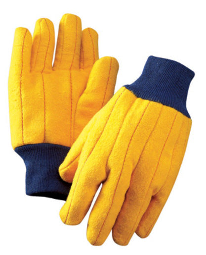 Radnor® Men's Gold 18 Ounce Cotton/Polyester Blend Chore Gloves With Knitwrist And Standard Lining