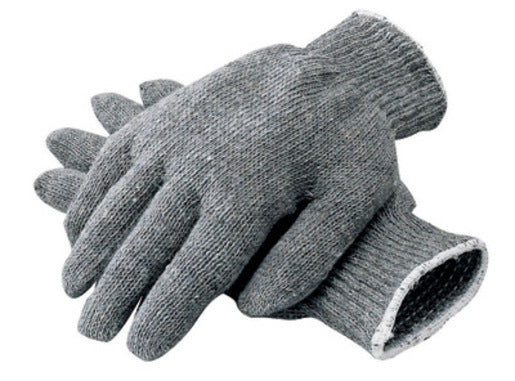 Radnor® Ladies Gray Heavy Weight Polyester/Cotton Ambidextrous String Gloves With Knit Wrist