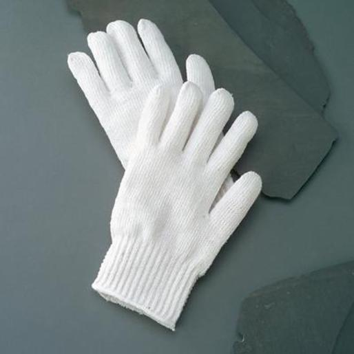 Radnor® Ladies Bleached White Standard Weight Polyester/Cotton Ambidextrous String Gloves With Knit Wrist