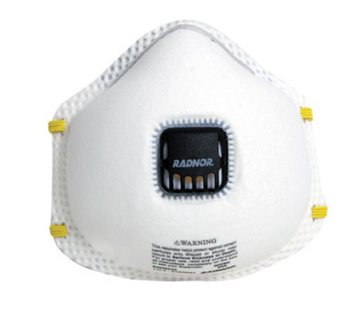 Radnor® N95 Flame Resistant Particulate Disposable Respirator With Exhalation Valve And Adjustable Nose Clip - NIOSH 42CFR84 (10 Each Per Box)