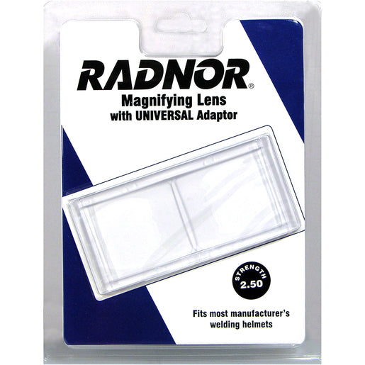 "Radnor® 2"" X 4 1/4"" 2.5 Diopter Polycarbonate Magnifying Lens With Universal Adapter"