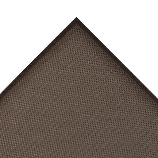"Superior Manufacturing 4"" X 75"" Black 5/8"" Thick Roll T17 Superfoam® Non-Slip  Anti-Fatigue Floor Mat"