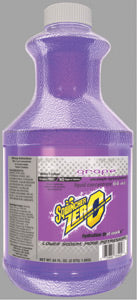 Sqwincher® 64 Ounce Sqwincher® ZERO Liquid Concentrate Bottle Grape Electrolyte Drink - Yields 5 Gallons (6 Each Per Case)