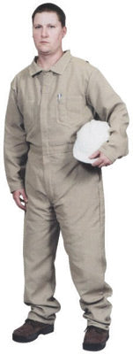 Stanco Safety Products™ Size 2X Tan Indura® Arc Rated Flame Resistant Coveralls With Front Zipper Closure