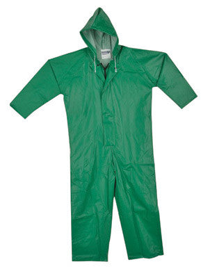 Tingley X-Large Green SafetyFlex¨ 17 mil PVC And Polyester Coveralls With Hook And Loop Closure And Hood