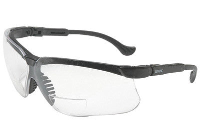 Uvex By Honeywell Genesis¨ Reading Magnifiers 1.5 Diopter Safety Glasses With Black Polycarbonate Frame And Clear Polycarbonate Ultra-dura¨ Anti-Scratch Hard Coat Lens