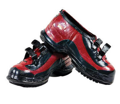 Salisbury By Honeywell Size 11 Black And Red Rubber 2-Buckle Overshoes With Bob