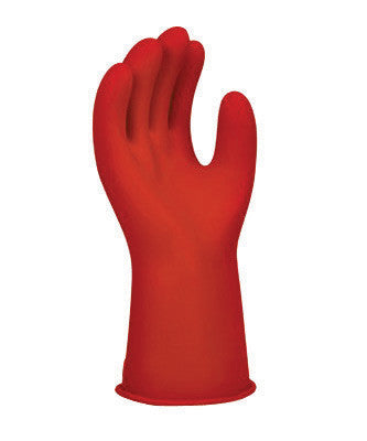 "SALISBURY By Honeywell Size 8 Red 11"" Type I Natural Rubber Class 0 Low Voltage Electrical Insulating Linesmen's Gloves With Straight Cuff"