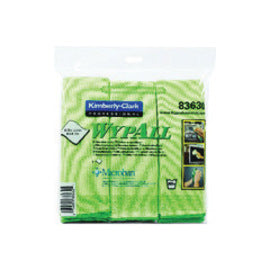 "Kimberly-Clark Professional* WYPALL* 15 3/4"" X 15 3/4"" Green Microfiber Cloth With Microban® Protection (6 Per Pack, 4 Pack Per Case)"