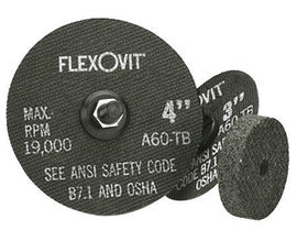 "FlexOVit™ 4"" X 1/4"" X 3/8"" A36Q Aluminum Oxide HIGH PERFORMANCE™ Reinforced Type 1 Grinding Wheel For Use With Die and Straight Grinder On Metal, Stainless Steel And Other Alloys (Quantity 20)"