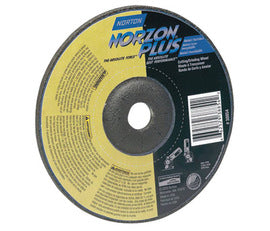 "Norton® 5"" X 5/8"" - 11 X 1/8"" 24 Grit Very Coarse Zirconia Alumina Silicon Carbide BlueFire™ Type 27 Depressed Center Combination Wheel For Use On Foundry Materials (Quantity 1200)"