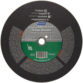 "Norton® 16"" X 1/8"" X 1"" 24 Grit Very Coarse Silicon Carbide Type 1 Cut Off Wheel For Use With Electric Powered Saw (Quantity 10)"