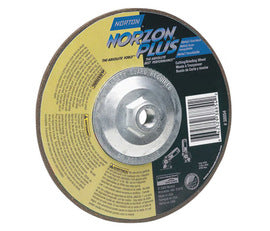 "Norton® 5"" X 5/8"" - 11 X 1/8"" 24 Grit Very Coarse Zirconia Alumina Silicon Carbide BlueFire™ Type 27 Depressed Center Grinding Wheel For Use On Foundry Materials (Quantity 20)"