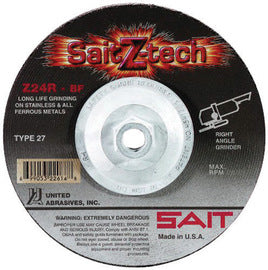 "United Abrasives 5"" X 1/4"" X 5/8"" - 11 SaitZ-tech™ Zirconium Type 27 Grinding Wheel (Quantity 10)"