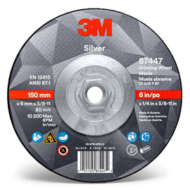 "3M™ 6"" X 1/4"" X 3M™ Precision Shaped Ceramic Grain Type 27 Grinding Wheel (Quantity 10)"
