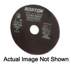"Norton® 8"" X .0600"" X 1/2"" 60 Grit A60-08NA2 Aluminum Oxide Flat Type 1 Straight Cut Off Wheel (Quantity 25)"
