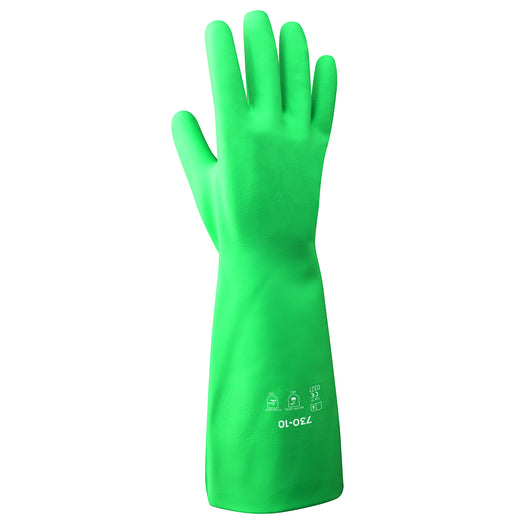 "Radnor® Size 8 Green Radnor® 13"" Flock Lined 15 mil Unsupported Nitrile Gloves With Sand Patch Finish"