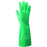 "Radnor® Size 11 Green Radnor® 13"" Flock Lined 15 mil Unsupported Nitrile Gloves With Sand Patch Finish"