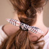 Tartan Hair Bow on Hair Elastic