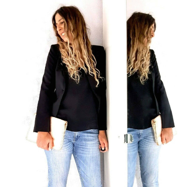 Zara Woman Black Fitted Blazer Small