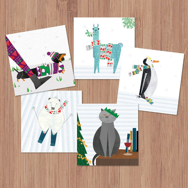 Mixed Pack of 5 Christmas Cards