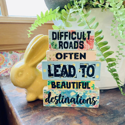 BEAUTIFUL DESTINATIONS - WOODEN BLOCKS