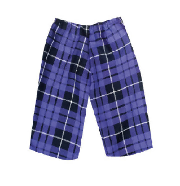 PRETTY DISTURBIA BABIES TARTAN CROPPED PURPLE TROUSERS PUNK GRUNGE