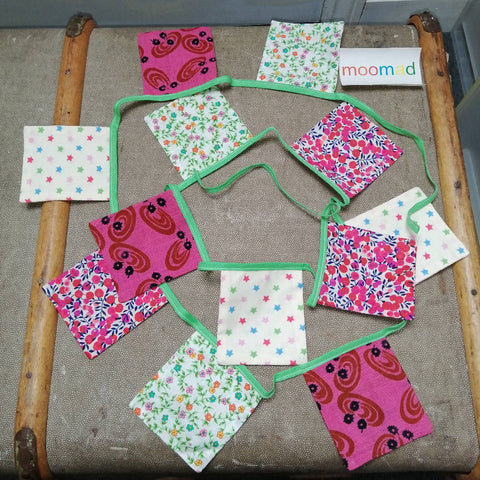 Handmade Bunting - In The Pink