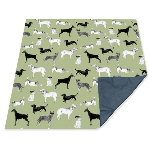 Dogs Family PACMAT Picnic Blanket