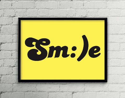 Smile Art Poster Print - Home Decor - Wall Art - Kids Art
