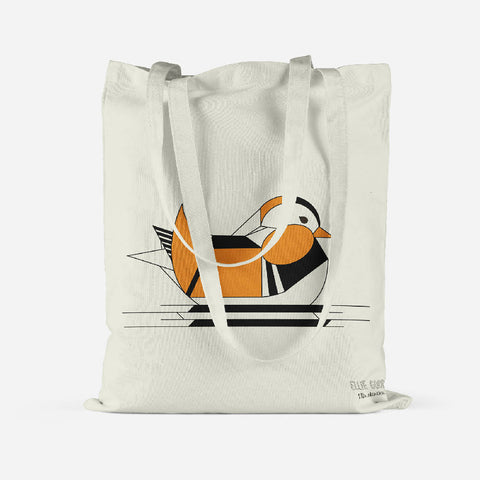 Mandarin tote bag made from recycled materials