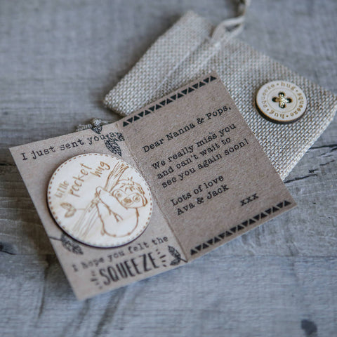 Personalised Little Pocket Hug Token & Card