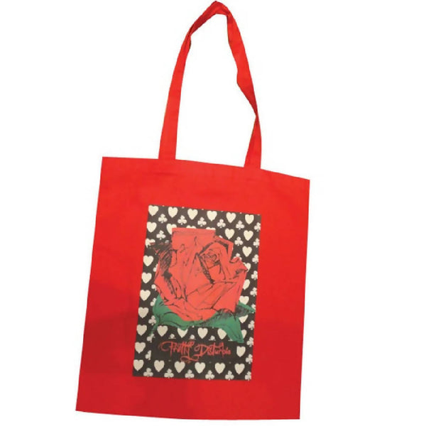 ROCK ROSE RED FLOWER TOTE SHOPPER BAG | PRETTY DISTURBIA