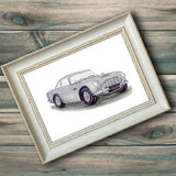 Aston Martin DB5 Illustration Print